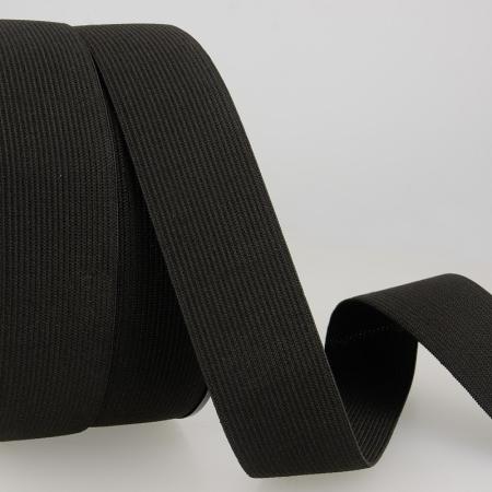 Elastique plat 20mm noir x1m