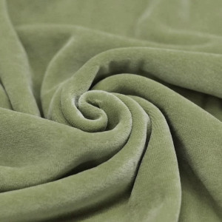 Velours nicky coloris vert olive