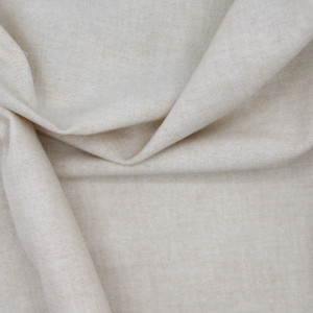 Chambray coton beige naturel uni