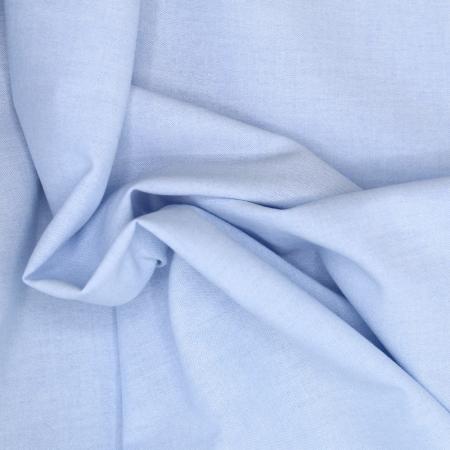 Chambray coton bleu ciel uni