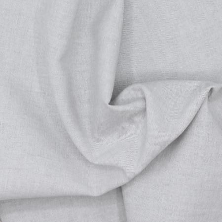Chambray coton coloris gris perle