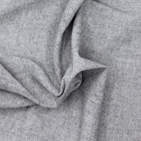 Chambray coton coloris gris anthracite