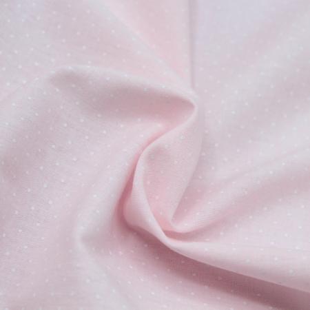 Chambray coton coloris rose layette à pois