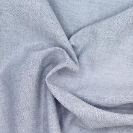 Chambray coton coloris bleu denim