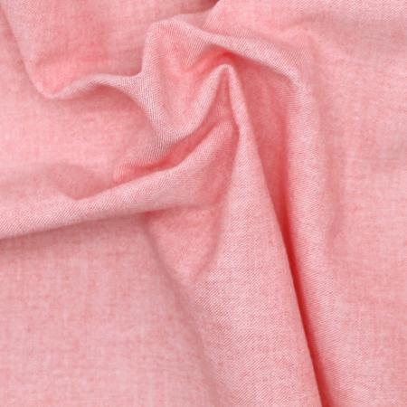 Chambray coton coloris corail