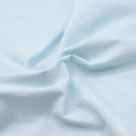 Chambray coton coloris aqua