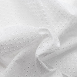 Broderie anglaise coton coloris BLANC