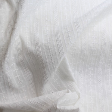 Broderie anglaise coton coloris naturel écru