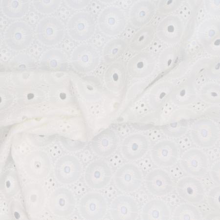Broderie anglaise coton coloris ivoire