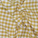 Coton vichy carreaux 10mm moutarde