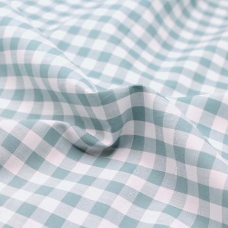 Coton vichy carreaux 10mm vert sauge