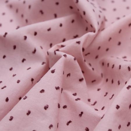 Plumetis de coton bicolore rose nude
