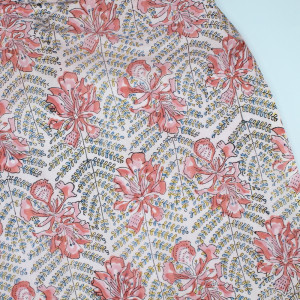 Tissu indien coton hand block traditionnel
