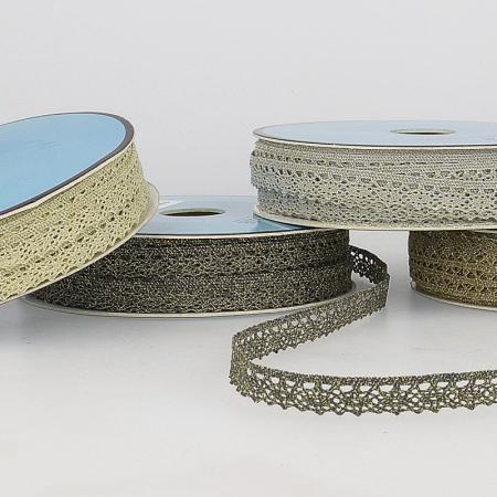 Galon dentelle métallisée 100% coton 10mm x1M