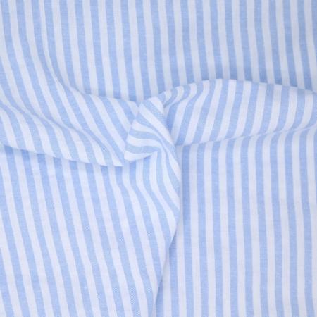 Coton gaufré à rayures coloris bleu clair