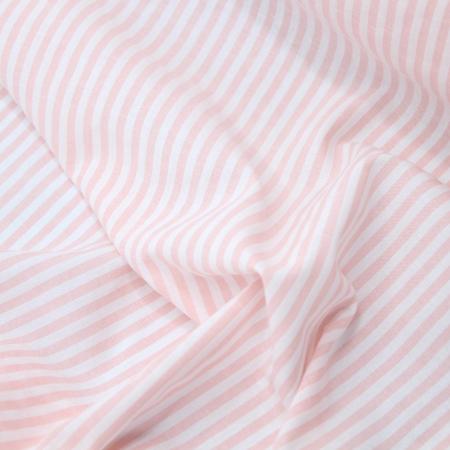 Coton gaufré à rayures coloris rose nude