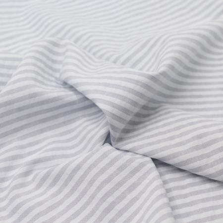 Coton gaufré à rayures coloris gris clair