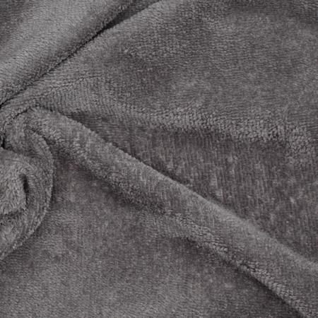 Eponge bambou / coton doudou coloris gris