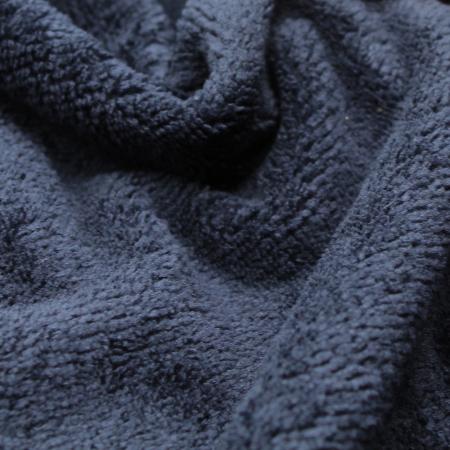 Eponge bambou / coton doudou coloris bleu marine
