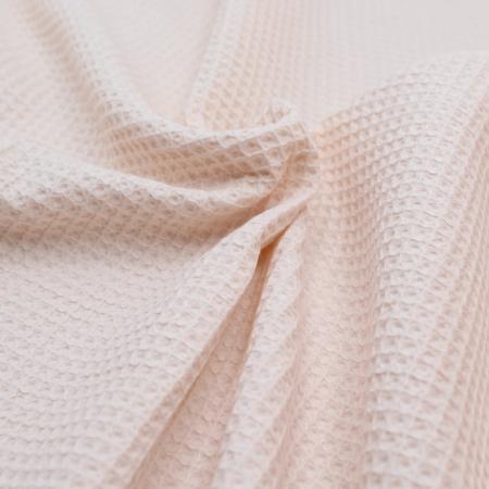 Coton bio nid d'abeille coloris nude