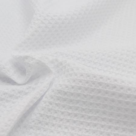 Coton BIO nid d'abeille coloris blanc