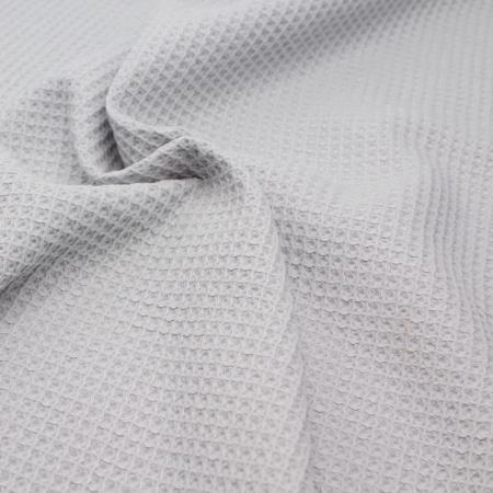 Coton BIO nid d'abeille coloris gris perle