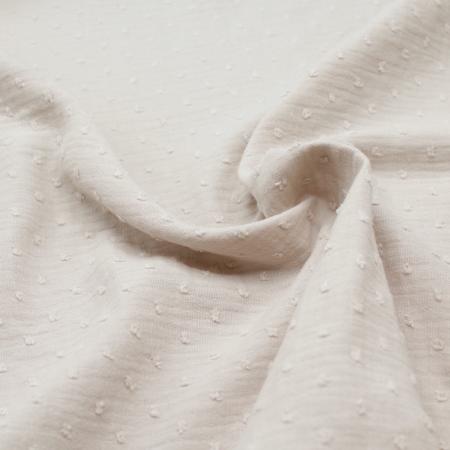 Double gaze de coton BIO plumetis beige sable