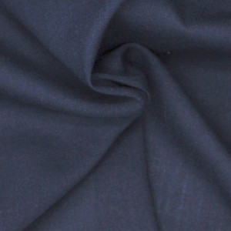 Voile de coton organique uni coloris bleu marine