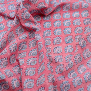 Tissu coton traditionnel indien hand block print