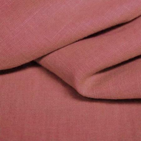 Lin lavé coloris rose argile