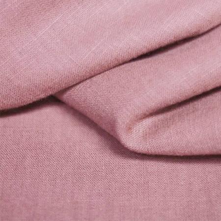 Lin lavé coloris vieux rose