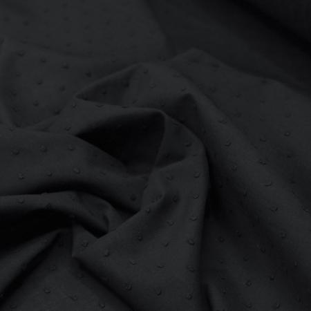 Plumetis de coton coloris noir