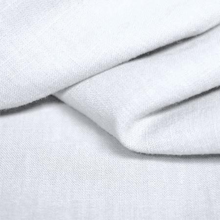 Lin lavé coloris blanc
