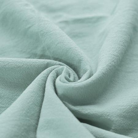 Coton lavé coloris vert celadon