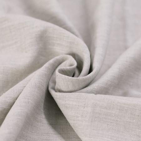 Lin lavé coloris beige chiné