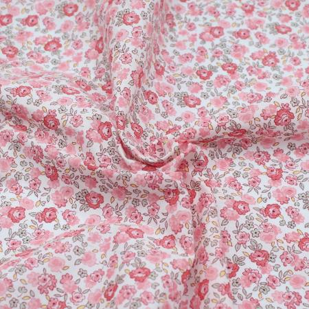 Batiste de coton SILKYNE à imprimé fleuri