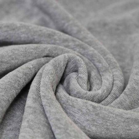 Jersey éponge coloris gris chiné
