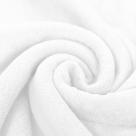 Jersey éponge coloris blanc