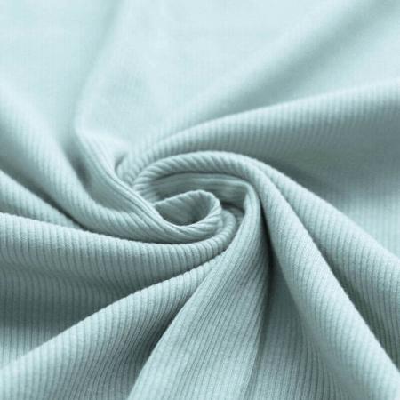 Jersey coton côtes fines coloris vert opaline