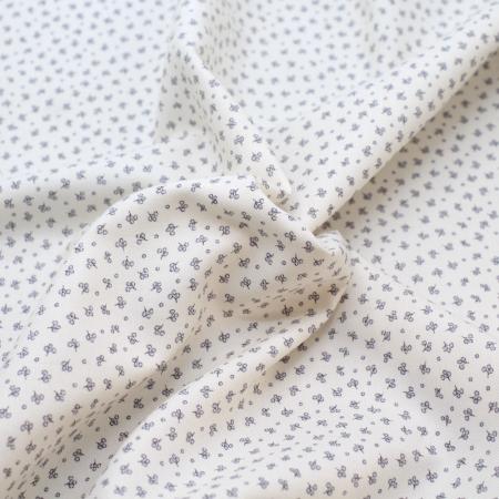 Tissu sergé de coton organique imprimé