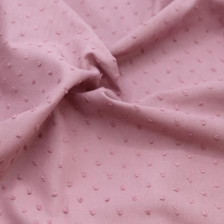 Plumetis de coton coloris vieux rose