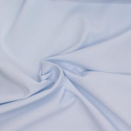 Popeline de coton douce SWEET uni bleu poudré