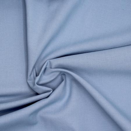 Popeline de coton douce qualité SWEET coloris uni bleu porcelaine