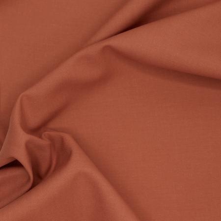 Popeline de coton douce qualité SWEET coloris uni écureuil