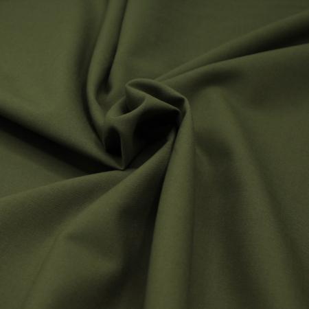 Popeline de coton douce qualité SWEET coloris uni olive