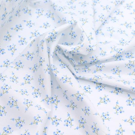 Batiste de coton bio SILKYNE à imprimé fleuri