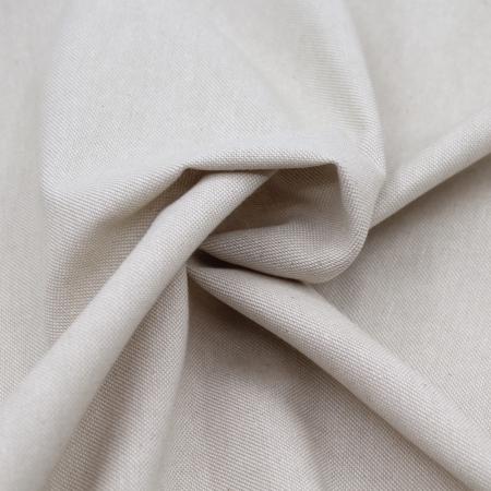 Tissu toile de coton organique naturel