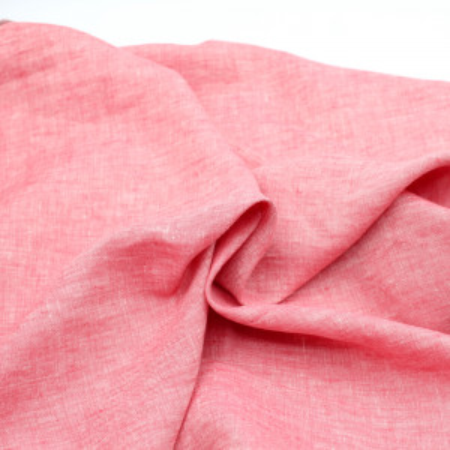 Lin lavé chiné coloris Rouge