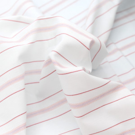Upcycling / exclu Les enfantines: Coton rayé rouge