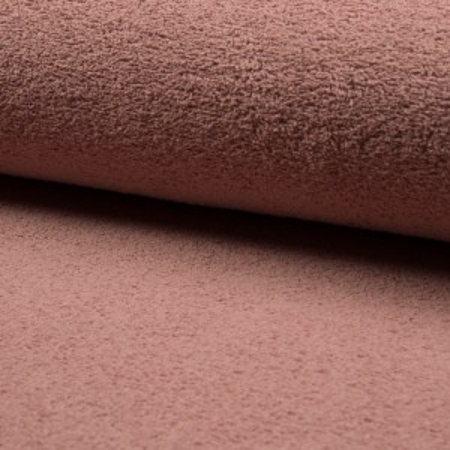 Coton éponge coloris vieux rose